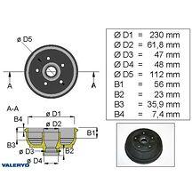 Bromstrumma 230x50 mm-lager 5x112