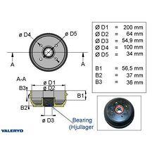 Bromstrumma 200x50 4x100 Euro compakt 34mm