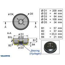 Bromstrumma 200*50 4*100 Bpw kompaktlager S2005-5