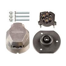 Släpvagnskontakt / Stickdosa 7-pol, aluminium