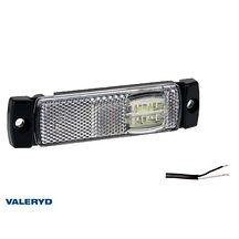 LED Positionsljus Valeryd 130x32x13 vit 12-30V med reflex inkl. 450 mm kabel