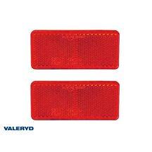 Rektangulär reflex 90*40 mm röd självhäftande (2-pack)