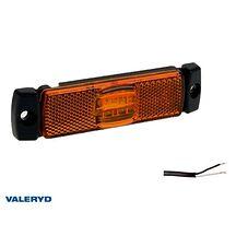 LED Sidomarkeringslykta Valeryd 116x32x14,5 gul 12-30V med reflex inkl. 450 mm k
