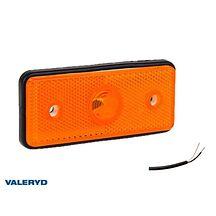 LED Sidomarkeringslykta Valeryd 110x50x10 gul 12-30V med reflex inkl. 450 mm kab