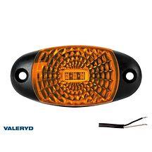 LED Sidomarkeringslykta Valeryd 72x34x18 gul 12-30V inkl. 450mm kabel
