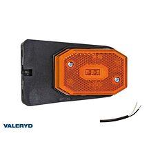 LED Sidomarkeringslykta Valeryd 65x42x30 gul med fäste CC=40mm, inkl. 450 mm kab