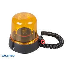 LED Roterande varningsljus 12/24V Kabel 2m med koppling för cigarettuttag. Magne