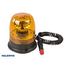 Roterande varningsljus 12/24V Kabel 2m med koppling för cigarettuttag. Magnetfäs