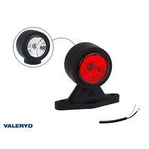 LED Breddmarkeringslykta Valeryd 88x118x45 vit/röd 12-30V inkl. 400 mm kabel, vä