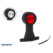 LED Breddmarkeringslykta Valeryd 130x118x45 vit/röd 12-30V inkl. 400 mm kabel, v