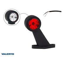 LED Breddmarkeringslykta Valeryd 133x118x45 vit/röd 12-30V inkl. 400 mm kabel, v