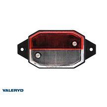 Breddmarkeringslykta Valeryd 96x42x33 vit/röd med fäste 12-30V