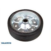 Stödhjulshjul 200x60 mm, med stålfälg Fullgummihjul