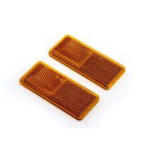 Rektangulär reflex 90x40 gul självhäftande (2-pack)
