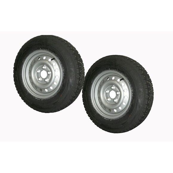 VALERYD Hjul med dubbdäck 185R14C Fälg 5.5x14 Bultcirkel 5x112 Centrumhål 67mm Offset +3