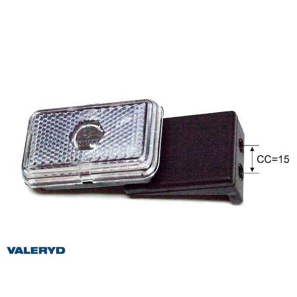 VALERYD Positionsljus Jokon höger L74xB45xH22,5 vit med gummifäste