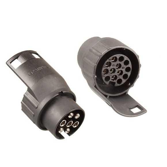 VALERYD Stickpropp Adapter Släpvagn Från 7 Pol (På Bil) Till 13 Pol (På Släp)
