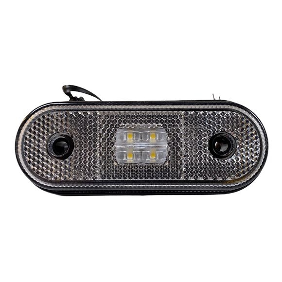 VALERYD LED Positionsljus Valeryd 120x46x18 vit 12-30V med reflex inkl. 450 mm kabel